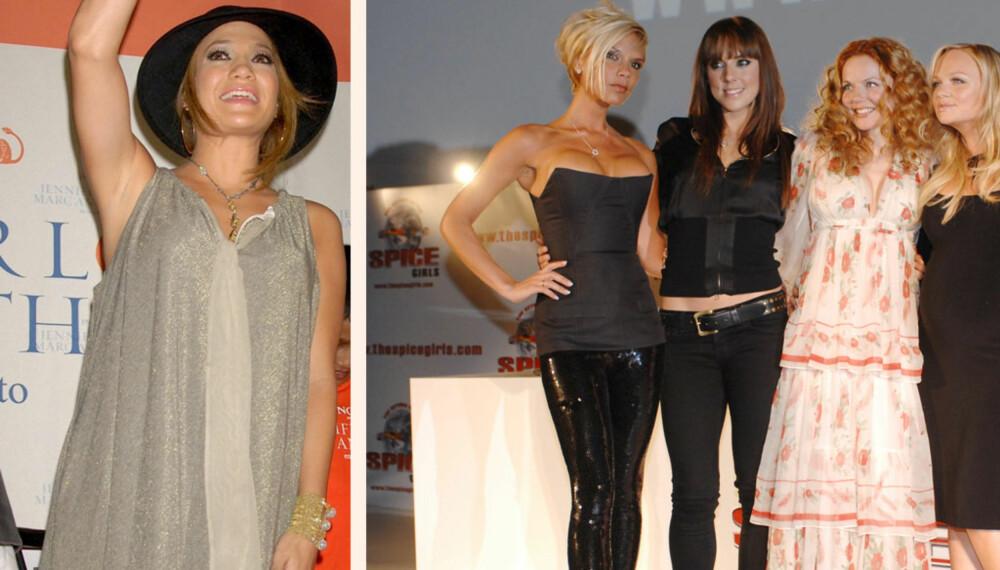Jennifer Lopez, Victoria Beckham,  Melanie Chisholm, Geri Halliwell og Emma Bunton.