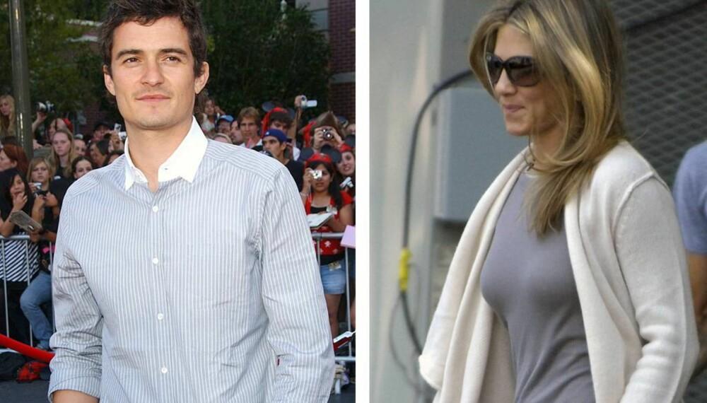 Orlando Bloom og Jennifer Aniston