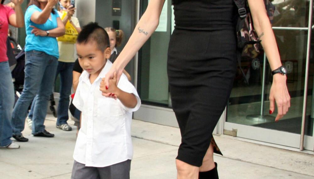 Angelina Jolie og sønnen Maddox