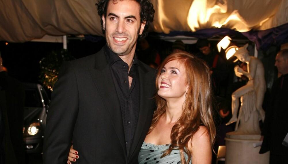 Sacha Baron Cohen og Isla Fisher