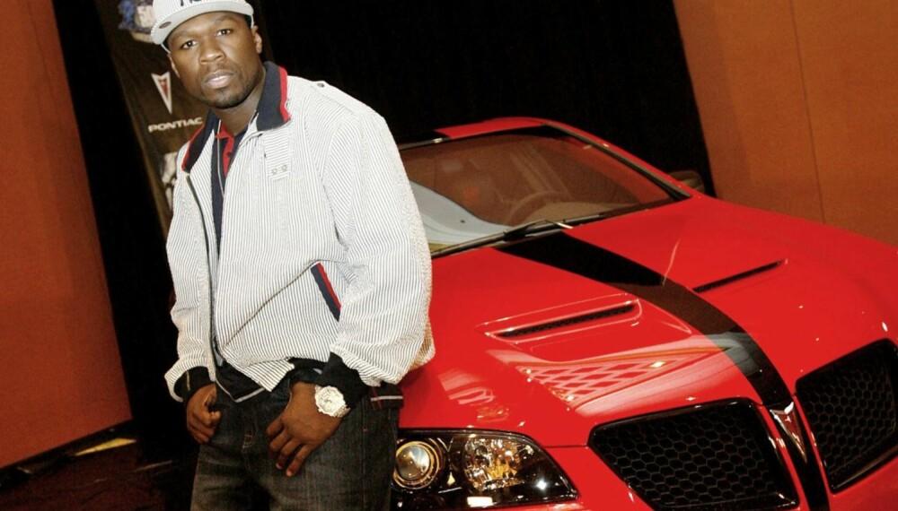 50 Cent med den nye bilen sin