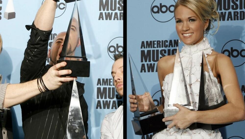 Chris Daughtry og Carrie Underwood