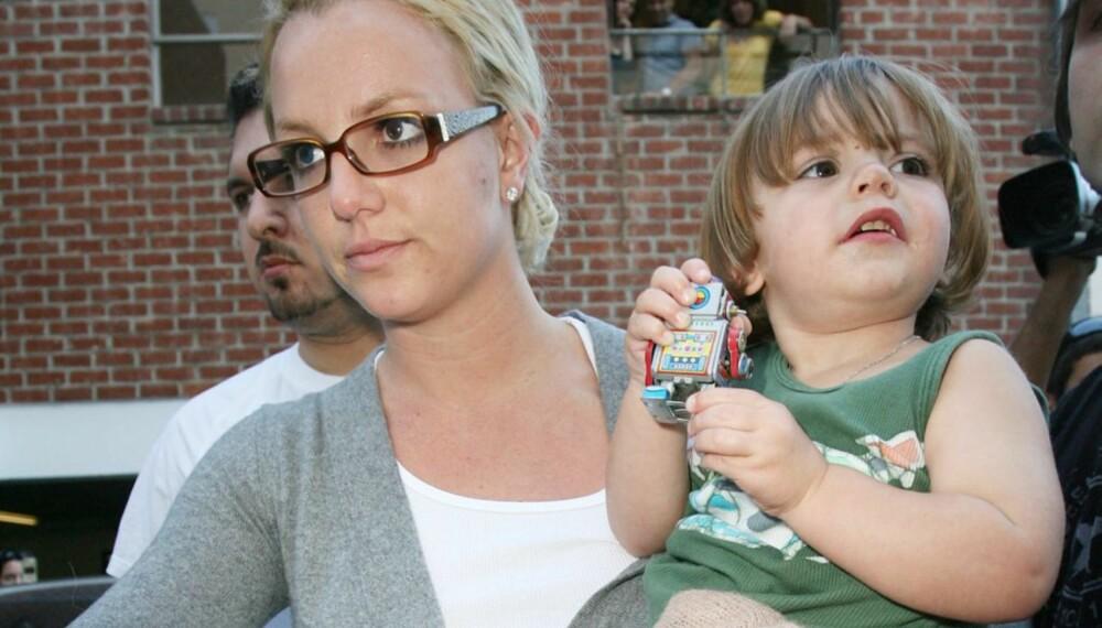 Britney Spears med eldstesønnen Sean Preston