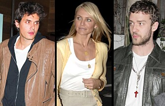 John Mayer, Cameron Diaz og Justin Timberlake