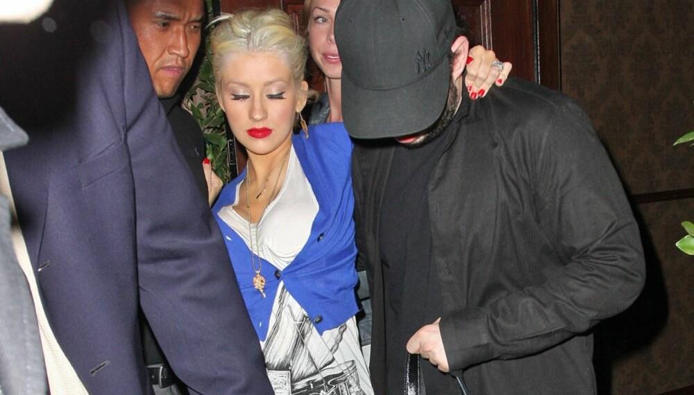 Christina Aguilera på fylla