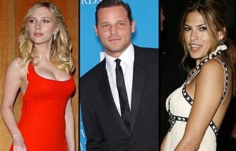 Mest sexy: Scarlett Johansson, Justin Chambers og Eva Mendes