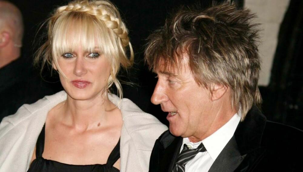 Kimberly og Rod Stewart