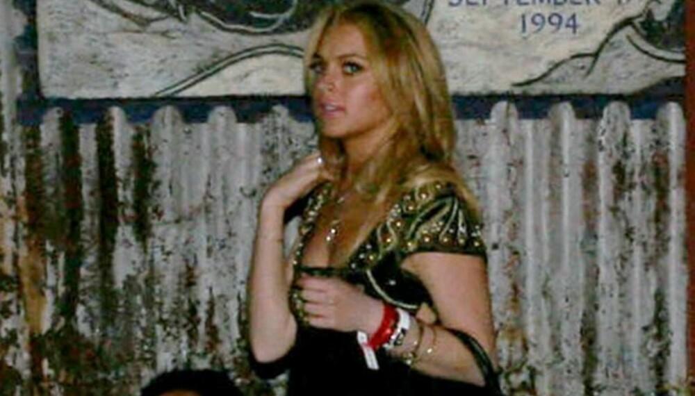 Lindsay Lohan på Britney-konsert