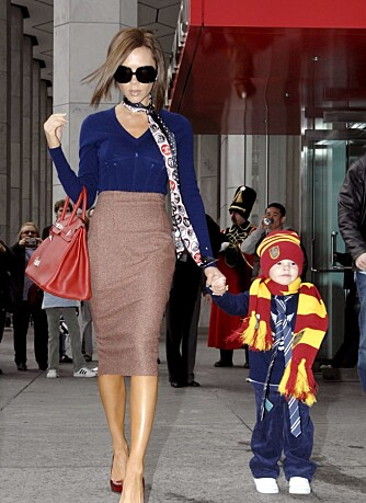 Victoria Beckham og sønnen Cruz