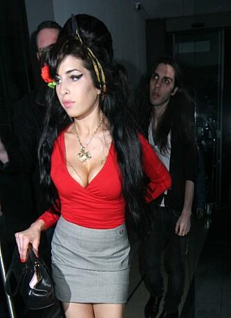Amy Winehouse i midten av februar 2008