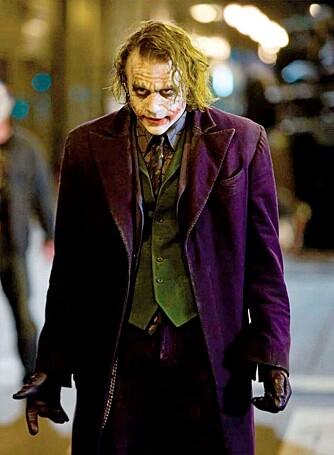 """HANS SISTE ROLLE: Heath rakk akkurat å fullføre rollen som Jokeren i """"The Dark Knight"""""""