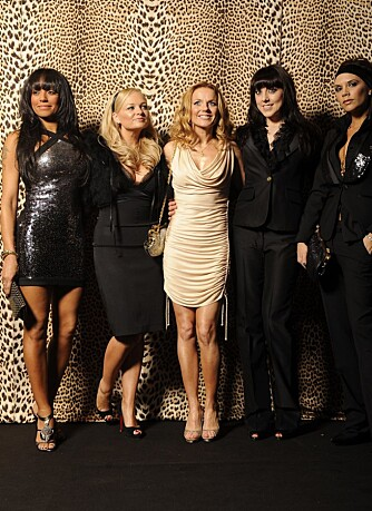 Spice Girls: Melanie Brown, Emma Bunton, Geri Halliwell, Melanie Chisholm og Victoria Beckham