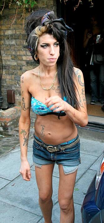 NARKOTIKAMISBRUKER: Det har lenge vært offentlig kjent at Amy er en flittig bruker av diverse narkotiske stoffer