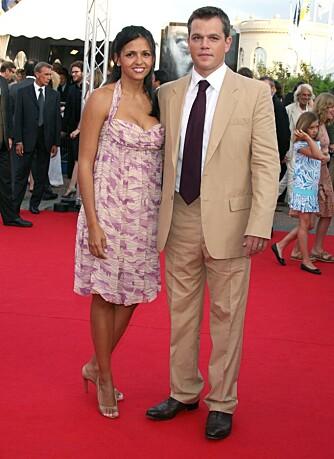 Matt Damon og kona Luciana