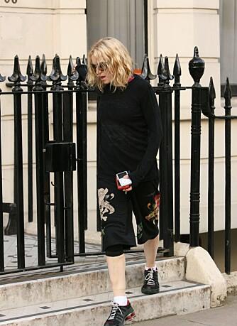 Madonna på vei hjem fra trening