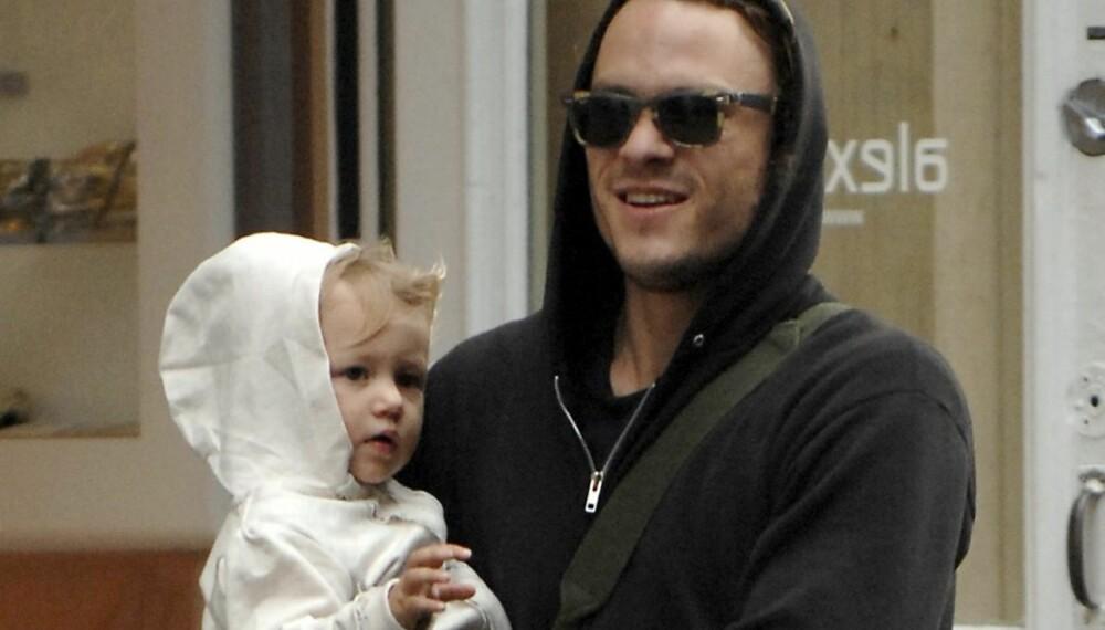 Heath Ledger med datteren Matilda