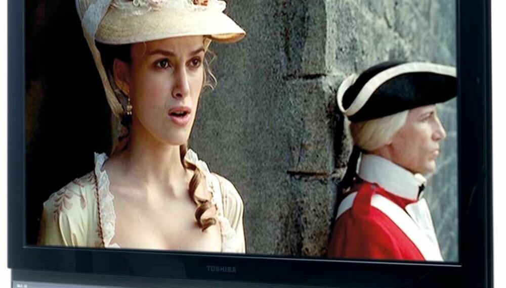 Testscene fra Pirates of the Caribbean: Scenene fra skattehulen til Barbossa er rimelig skarpe og klare, men også skuffende flate takket være skjermens dårlige sortnivå.