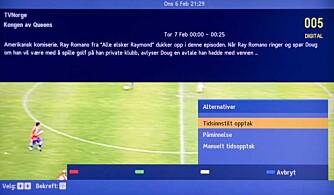 SMARTLINK: Hvis du kobler til en kompatibel harddiskopptager, kan du planlegge TV-opptak direkte fra programguiden.