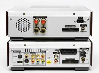 Philips MCD908 har omfattende tilkoblingsmuligheter, inkludert en HDMI-port.