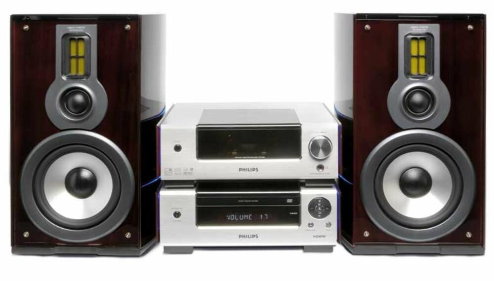 Philips MCD908 DVD stereosystem er en unik kombinasjon av den analoge hi-fi teknologien og nyere digitale teknikker.