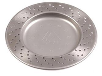 Med bremseskive-tallerken i rustfritt stål blir det moro å spise biff.