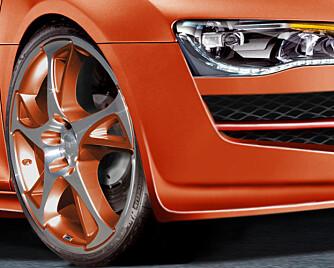 De nye 20-tommerne er utviklet spesielt for R8, men vi antar at de også blir tilgjengelig for med dagligdagse biler.