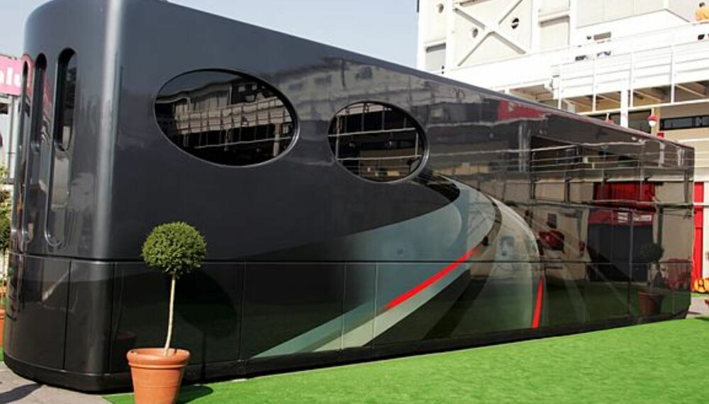 Kontoret til F1-bossen Bernie Ecclestone. (Foto: Sutton)