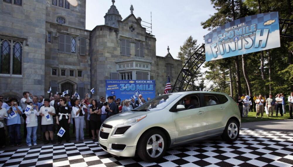 Sequel kjørte 300 miles  drøye 482 km  på en tank hydrogen. Foto: General Motors