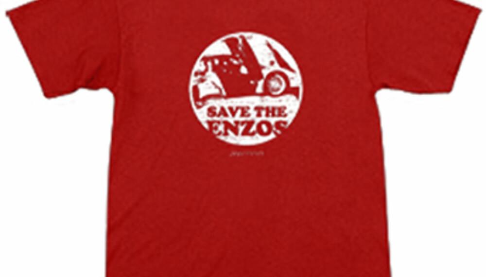 Med denne T-skjorta kan du fortelle omverdenen om hva du mener om Enzo-nedslaktningen.