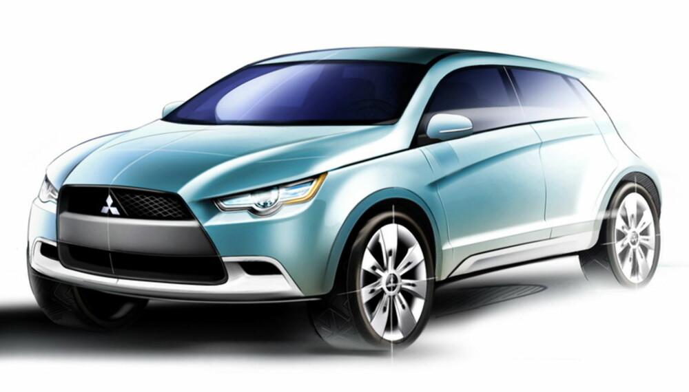 Konseptbilen viser en mer sporty linjeføring enn det vi kjenner fra dagens Mitsubishi-modeller.