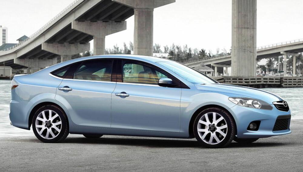 Slik antar våre illustratører at Mazda 6 blir seende ut. Foto: Automedia