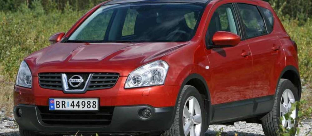 OUTSIDER: Nissan Qashqai selger som varmt hvetebrød, men bare 1 av fire er med firehjulstrekk og kan kalles SUV.
