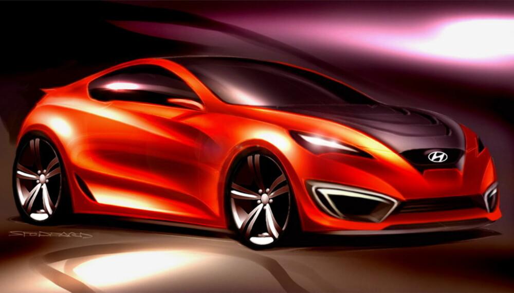 Hyundais kommende sportscoupé-konsept Genesis Coupé viser ordentlig tøffe takter. Den vil gå i strupen på etablerte storheter, og skal gi masser av kjøreglede, heftige fartsprestasjoner og eleganse på høyeste nivå.