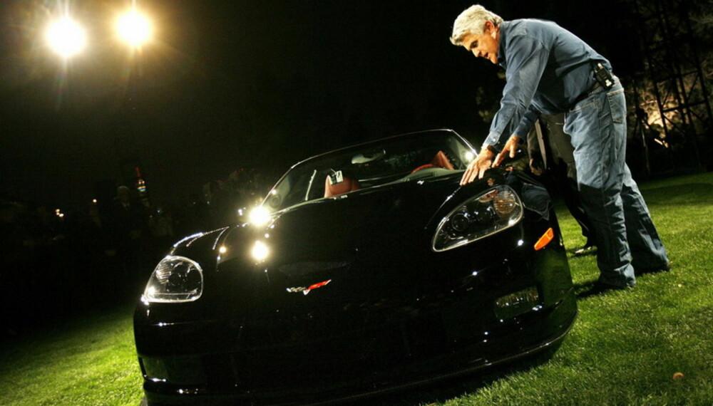 Jay Lenos E85-drikkende Corvette har 600 hk, og det med drivstoff som kan lages av planterester.