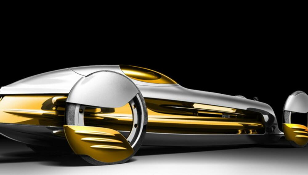 Med langstrakte linjer og smale og høye hjul, skal SilverFlow minne oss om 30-tallets racerbiler fra Mercedes-Benz.