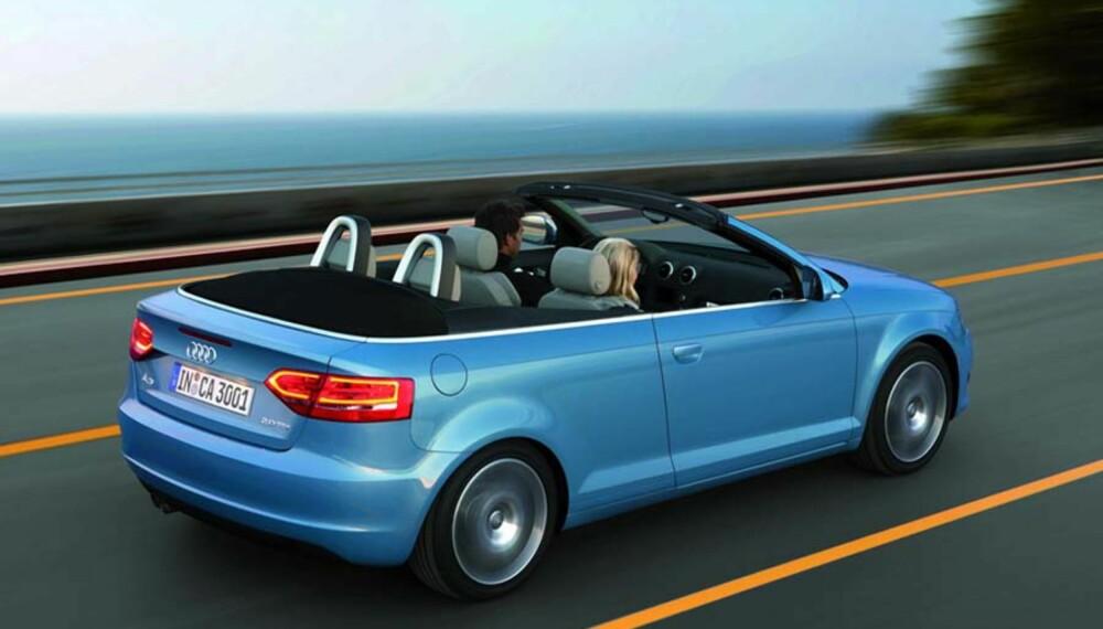 Den åpne Audi A3 får sterk familielikhet med de øvrige Audi-modellene.