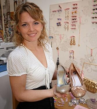 SKO: -Velg sko du liker, gjerne med farge, framfor tradisjonelle brudesko, råder Cecilie Melli.