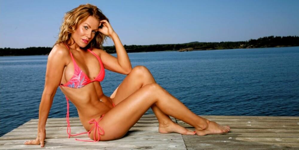SUNN KROPP: Helene trener masse og spiser sunt for å holde seg i form