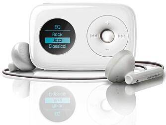 LEKKER: Den oppgraderte versjonen av Zen Stone, Creative Zen Stone Pluss har også fått med seg FM-mottager.
