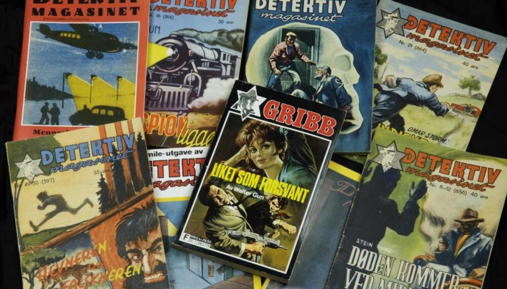 """Gribbuniverset: Dette bestod av bladene """"Lys og skygge"""" og """"Detektivmagasinet"""" og de siste årene også av bøker."""