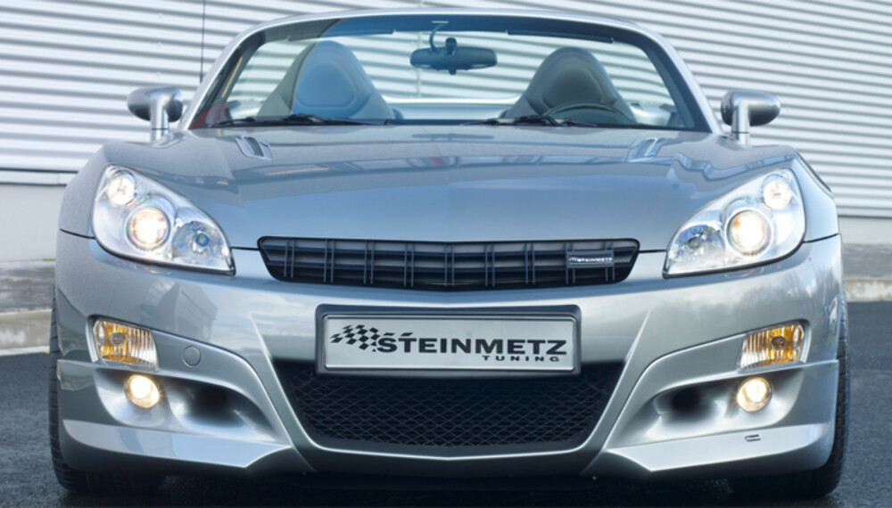 Den tøffe Opel GT blir enda tøffere med Steinmetz´ nye front.