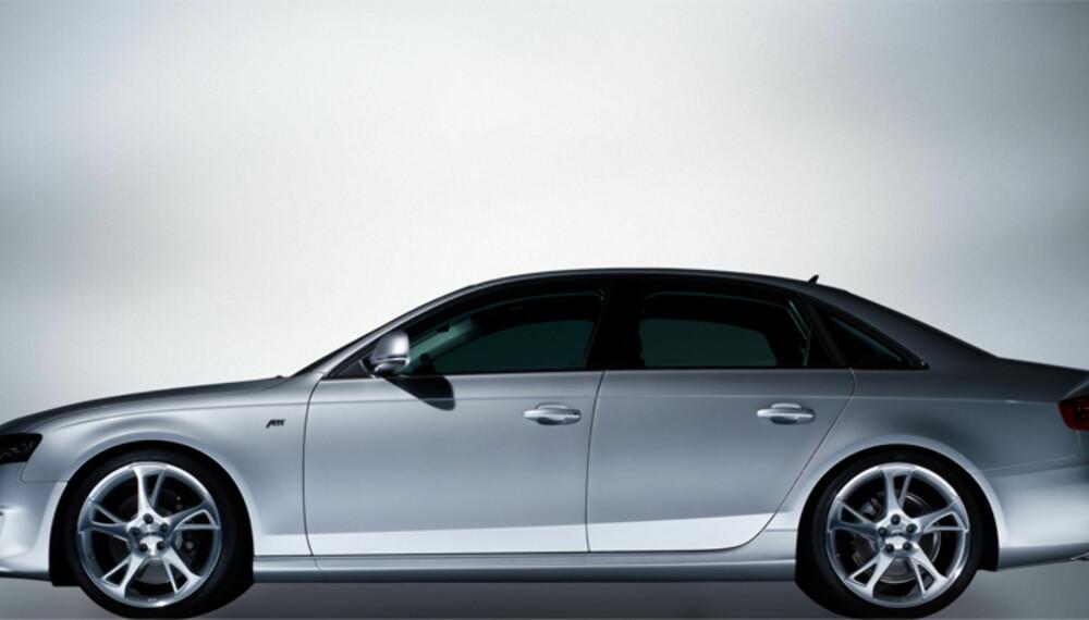 Med mer markant styling, lavere bakkeklaring og større hjul blir A4 litt mer sporty.