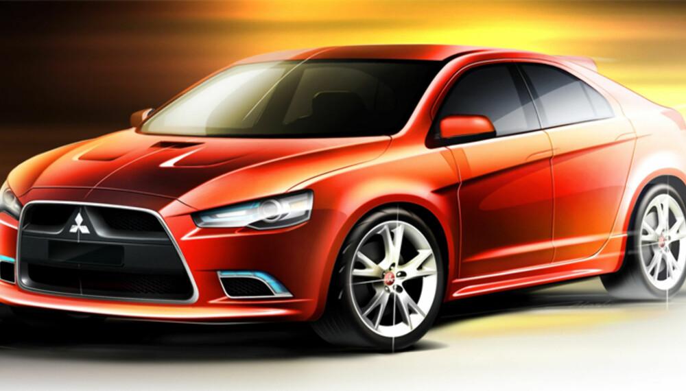 EVO-fronten er på plass, og spør du oss, har Prototype S tøffere former enn Lancer-sedanen.