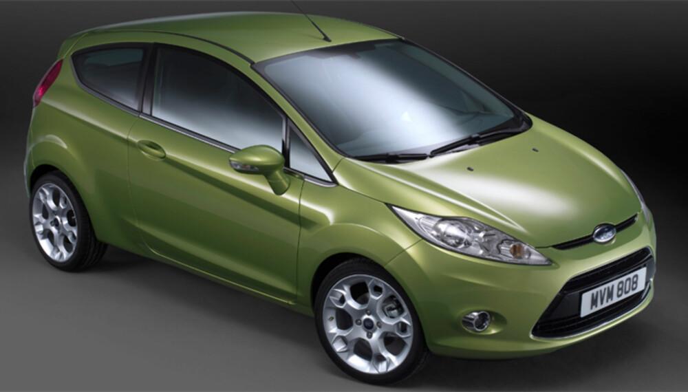 Den nye Fiesta får tøffe former, i stil med de øvrige, nye Ford-modellene.