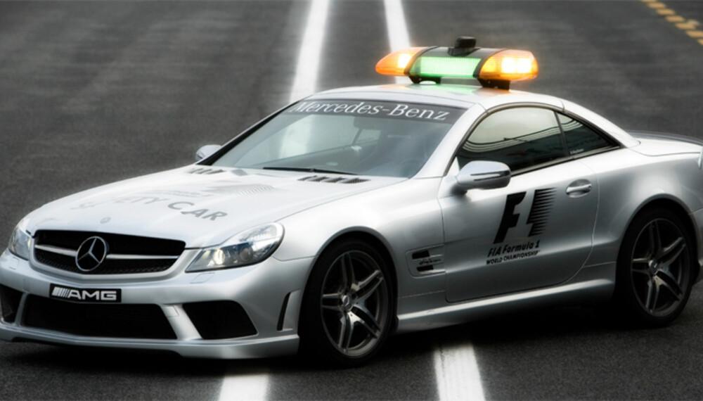 Sikkerhetsbilen som skal brukes i årets F1-løp er en heftig bearbeidet SL 63 AMG.