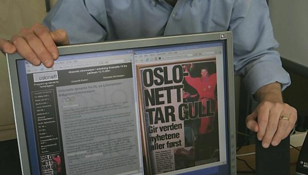 DEN FØRSTE NETTSIDEN: Kjell Øystein Arisland og gjengen bak www.oslonett.no fikk mye oppmerksomhet for sin banebrytende resultatservice fra Lillehammer-OL i 1994.