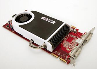 STILLE: Asus EAX1950 Pro Crossfire er et svært støysvakt, nesten stille, grafikkort.