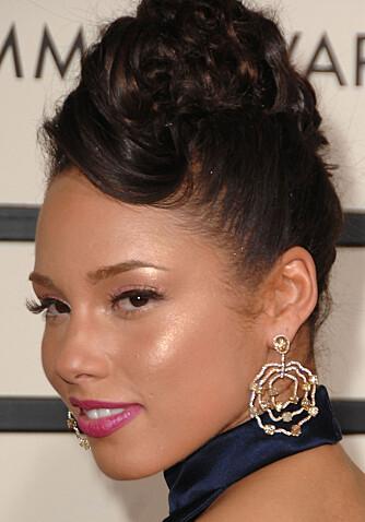 Alicia Keys ser ikke akkurat billig ut i denne ørepynten fra Diamond in the Rough. (Foto: WireImage/All Over Press)
