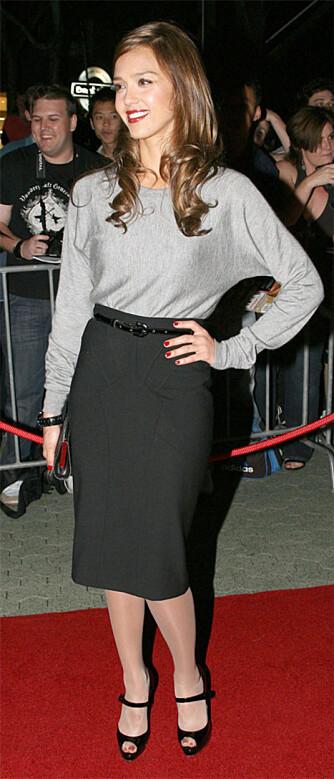 Jessica Alba er kjent for sin elegante og tekkelige stil. (WireImage/All Over)