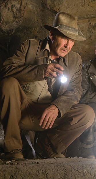 Filmarkeologen Indiana Jones (Harrison Ford) er ikke først og frems kjent for å protokollføre potteskår. (Foto: Filmweb)